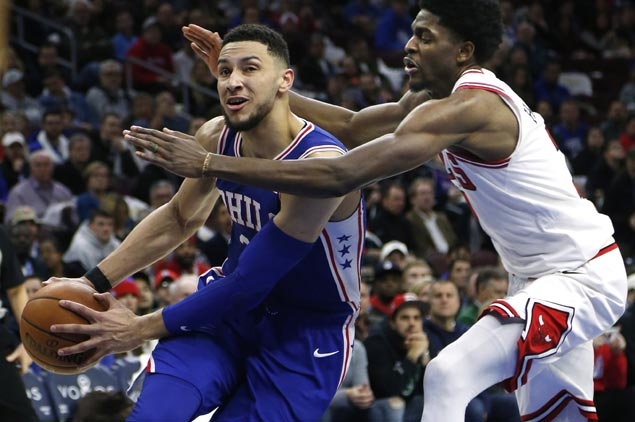 Ben Simmons posts fifth triple-double of season as Sixers down Bulls