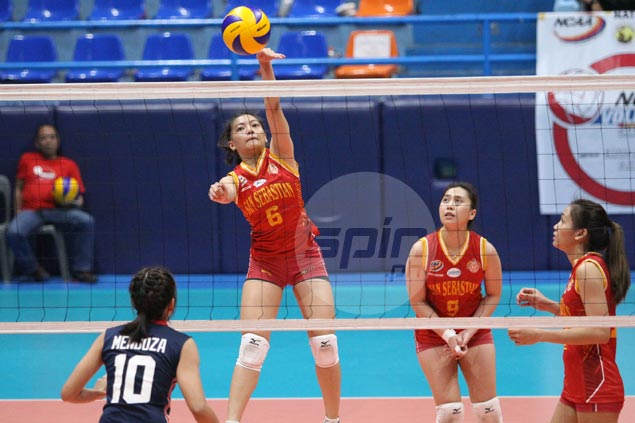 San Sebastian rips Letran in three to make it three wins in a row and gain share of third