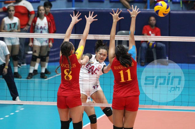 EAC outlasts winless Mapua in five-set thriller for breakthrough win in NCAA women's volley