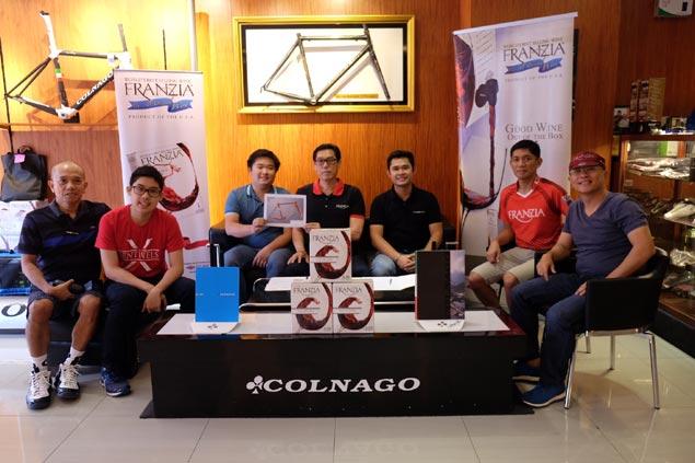 Franzia Executive Cycling Team partners with top Italian bike maker Colnago