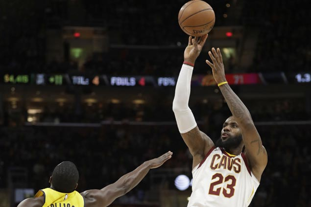 LeBron overcomes 11 turnovers to post 63rd career triple-double as Cavs down Pacers
