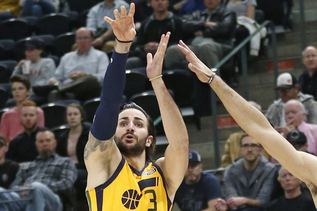 Ricky Rubio hits triple in dying moments to lift Jazz past Raptors