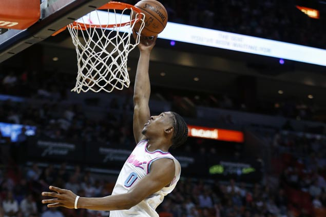 Josh Richardson leads way as Heat fight back from 15 down to beat Hornets