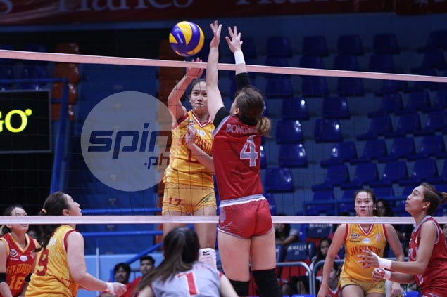 Lady Stags breeze past Lyceum for fifth straight win in NCAA volleyball