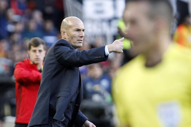 Pressure eased off Zidane as Madrid downs Valencia to end four-game winless run