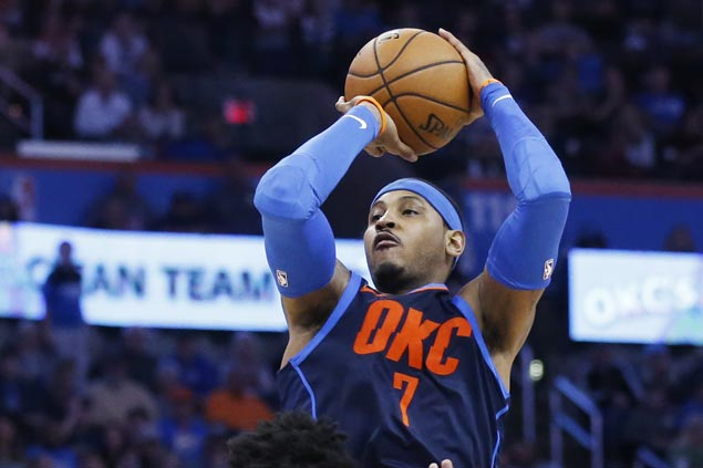 Thunder stretch streak to eight with victory over Sixers
