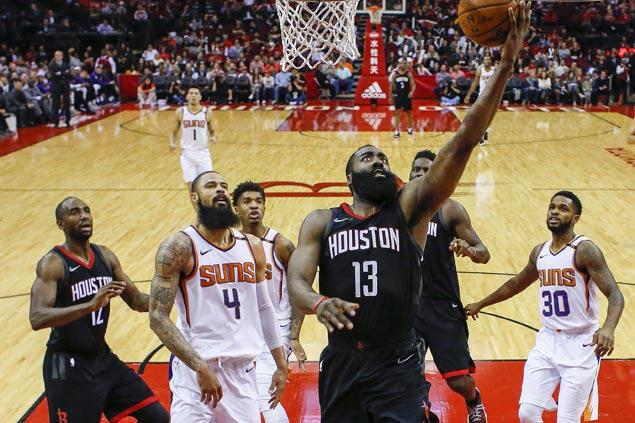 James Harden flirts with triple-double as Rockets defeat Suns