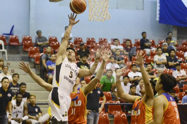 Pontejos hits winnner as JRU nips Go for Gold to spoil TY Tang's one-off comeback