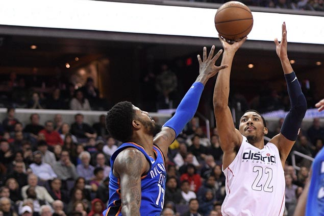 Otto Porter takes charge as Wall-less Wizards halt Thunder's win streak at eight