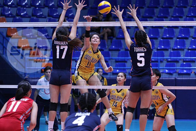 Shola Alvarez drops season-high 30 to carry JRU over Letran in NCAA women's volleyball