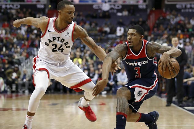 Beal catches fire after cold start, scores 25 in second half to lift Wizards over Raptors