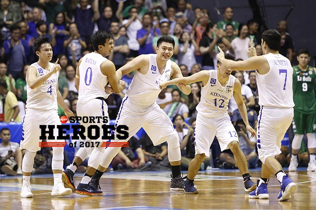 <em>SPIN.ph</em>&nbsp;Sports Heroes of 2017: 'Average' Blue Eagles achieve something extraordinary