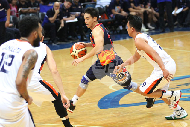 Chris Tiu leads from front as Rain or Shine shrugs off offcourt issue to beat Meralco