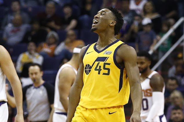 Rookie Donovan Mitchell has another 40-point game as Jazz rip Suns