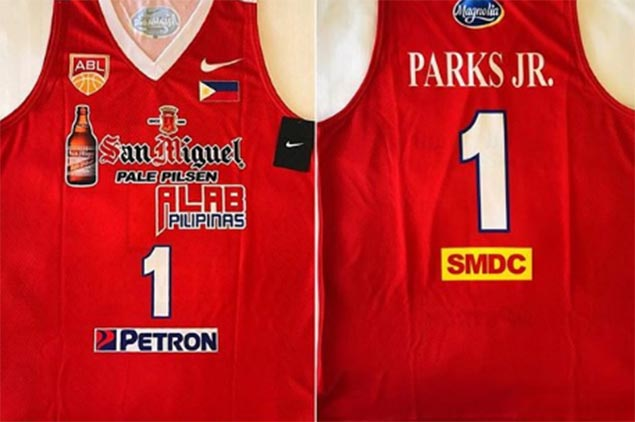 LOOK: San Miguel Alab Pilipinas unveils new jersey ahead of clash with Singapore Slingers