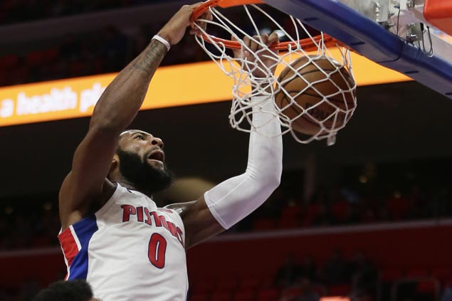 Andre Drummond 20-20 game powers Pistons past Heat