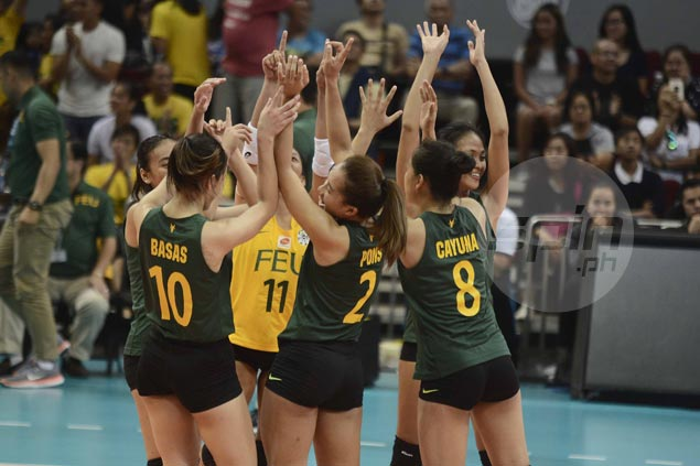 FEU spikers break five-year hex with thrilling victory over Ateneo Lady Eagles