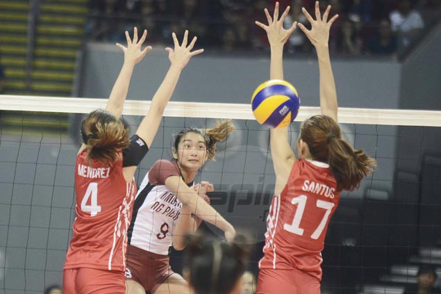 UP Lady Maroons overcome first-day jitters to beat UE Lady Warriors in five sets