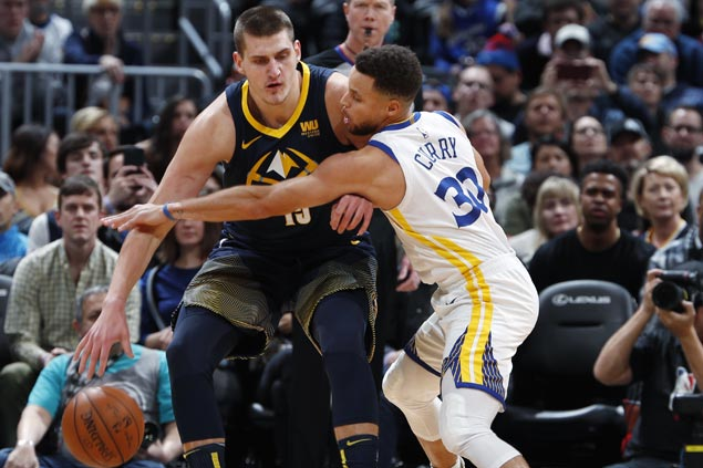 Nikola Jokic nails go-ahead triple as Nuggets deal Warriors second loss in three games