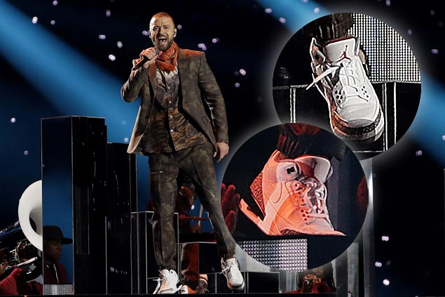 LOOK: Justin Timberlake rocks Air Jordan collab shoe at Super Bowl halftime show