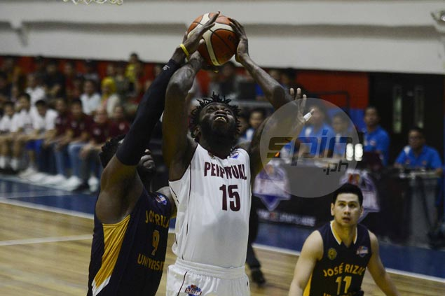 Prince Eze posts 20-20 triple-double as Perpetual Help deals JRU first loss