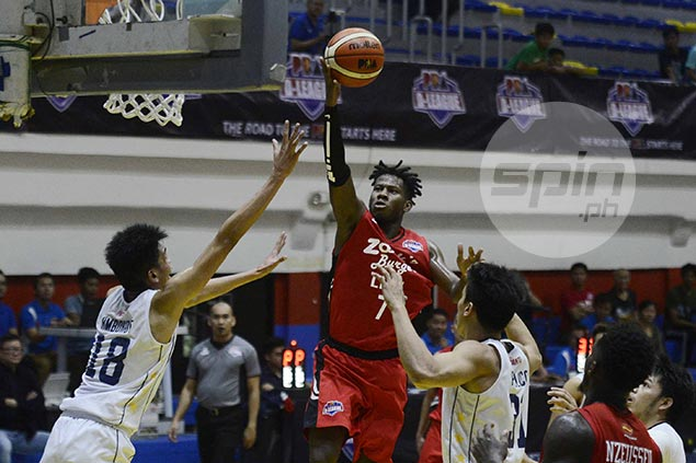 Zarks-Lyceum blows 12-point lead late but holds on to deal Wangs-Letran first loss