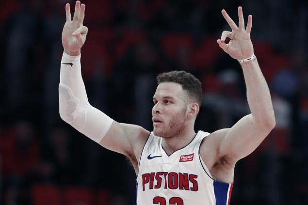 Pistons rout Blazers for fourth straight win, three in a row with Blake Griffin