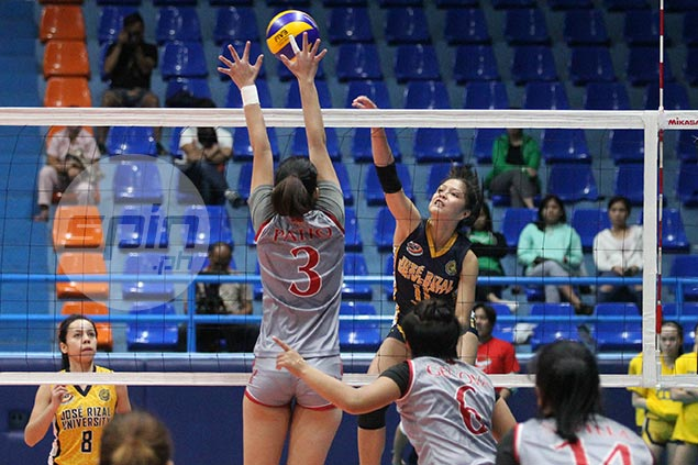 JRU downs Lyceum to secure at least a playoff for semis spot in NCAA women's volley