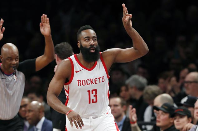 James Harden passes 15,000-point mark as Rockets beat Nets