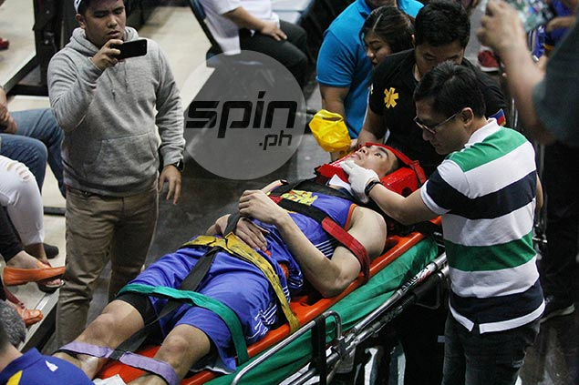 Troy Rosario taken to Makati Med after scary fall in TnT game vs Phoenix