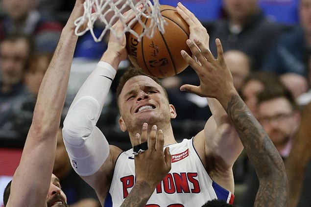Pistons still unbeaten with Griffin, cruise past lowly Nets for fifth straight win
