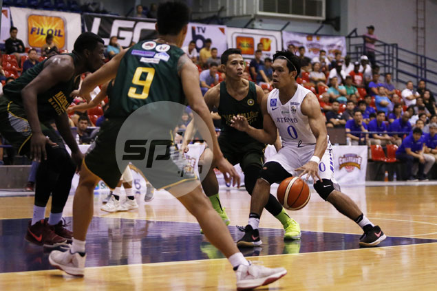 Thirdy Ravena's near-triple double drives depleted Ateneo past Naga side in PCCL