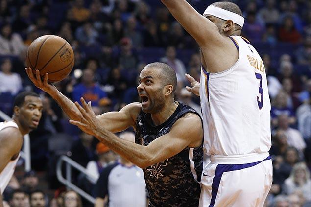 Parker, Mills step up for injured starter Murray as Spurs manhandle Suns