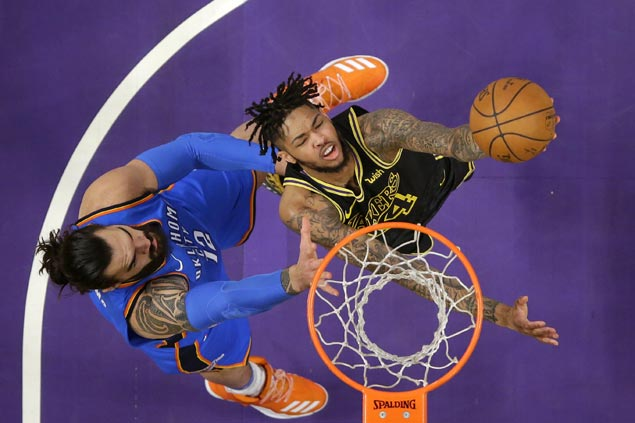 Lakers get big win after parting ways with Jordan Clarkson, trounce shorthanded Thunder