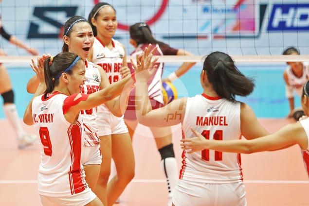 No pressure on underdog San Beda in NCAA women's volley finals, says Cesca Racraquin