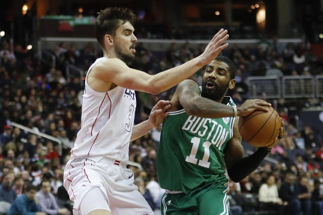 Kyrie Irving continues steady play after injury as Celtics edge Wizards in overtime