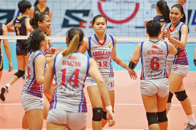 Arellano books return trip to NCAA women's volley finals with straight-sets win over JRU