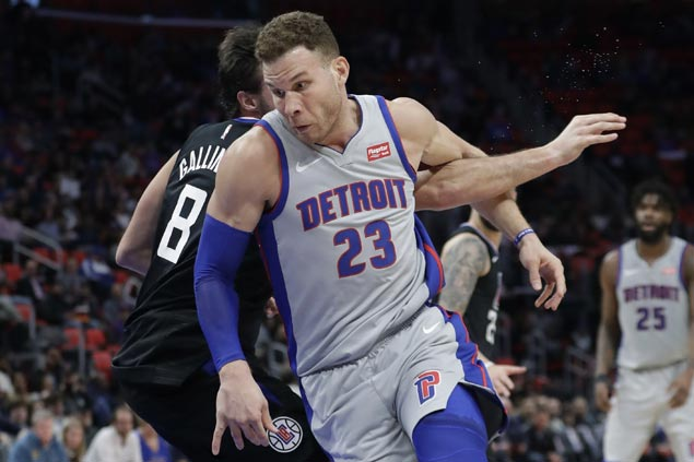Clippers deal Blake Griffin first loss with Pistons