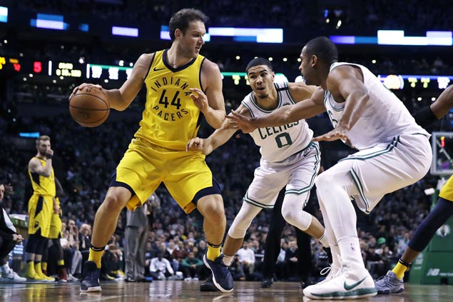 Pacers squander 26-point lead but recover to beat Celtics