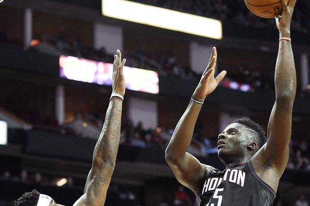 Clint Capela recovers from sluggish start to post 20-20 game as Rockets rip Nuggets