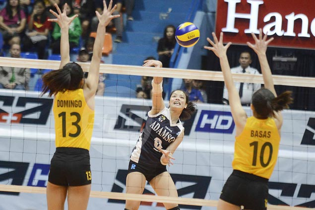Lady Falcons make win column with five-set squeaker over Lady Tams