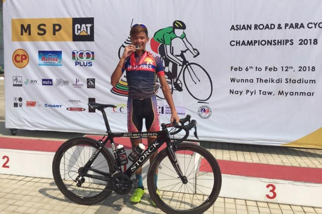 Rex Luis Krog bags silver medal in Asian Cycling Championships juniors road race