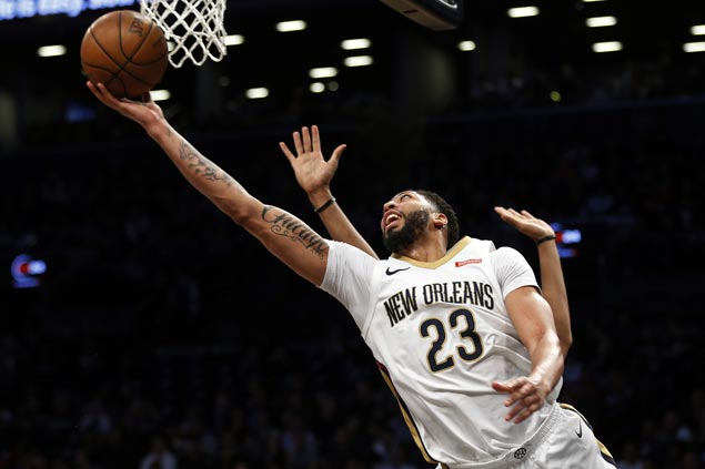 Davis scores 44, Rondo has triple-double as Pelicans blow 28-point lead but recover to beat Nets in 2OT