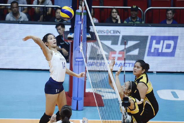 Lady Eagles fight back from a set down to beat Tigresses for first win in Season 80