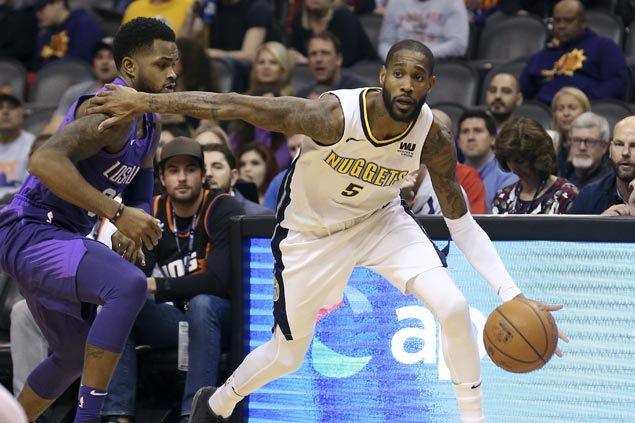 Nuggets ride second-half surge to victory over skidding Suns