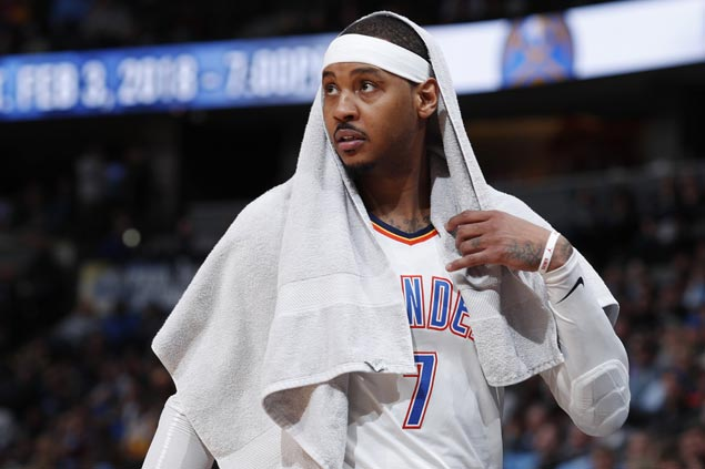 Thunder still without Westbrook, Carmelo as they take on Grizzlies