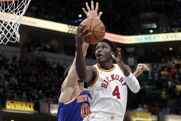 Pacers take control in second period and hold on to beat skidding Knicks