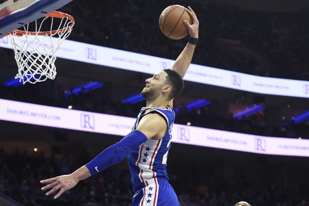 Balanced Sixers stretch home win streak to 10 with rout of slumping Knicks