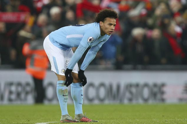 Sane back five weeks ahead of schedule, travels with City for Champions League match in Basel