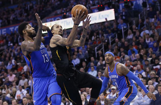 New boys continue solid play as Cavs hold off Thunder to stretch streak to four